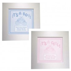 Its a Girl/Boy Personalised Framed Canvas