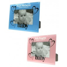 Glass Personalised Baby Photo Frame