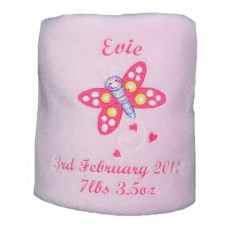 Butterfly Princess Personalised Baby Blanket